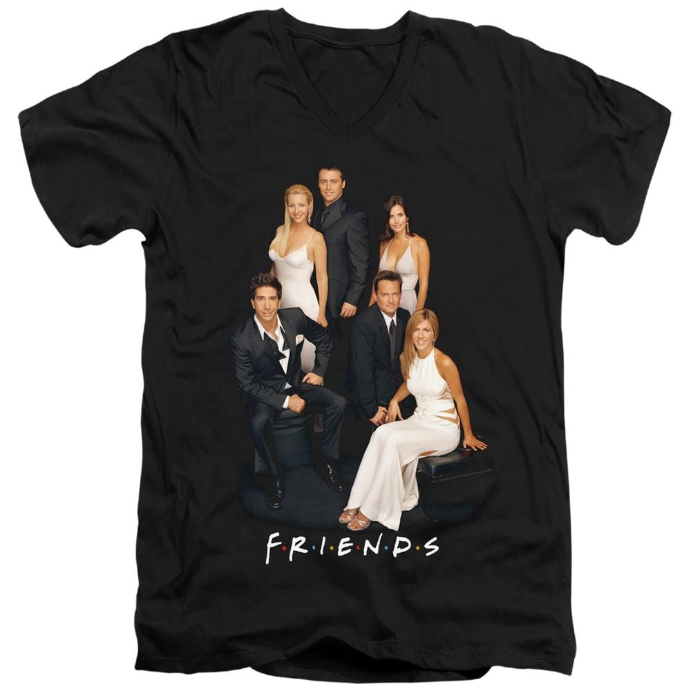 Friends Classy Adult V Neck T-Shirt