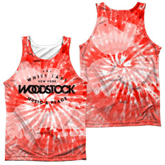 Woodstock - Tie Dye Adult Tank Top
