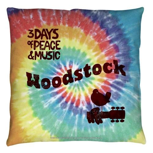 Woodstock - Tie Dye Throw Pillow