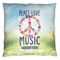 Woodstock - Open Love Throw Pillow