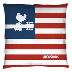Woodstock - Flag Throw Pillow
