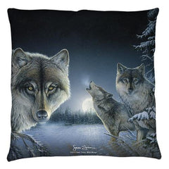 Wild Wings - Midnight Wolves 2 Throw Pillow