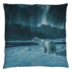 Wild Wings - Polar Night Light 2 Throw Pillow