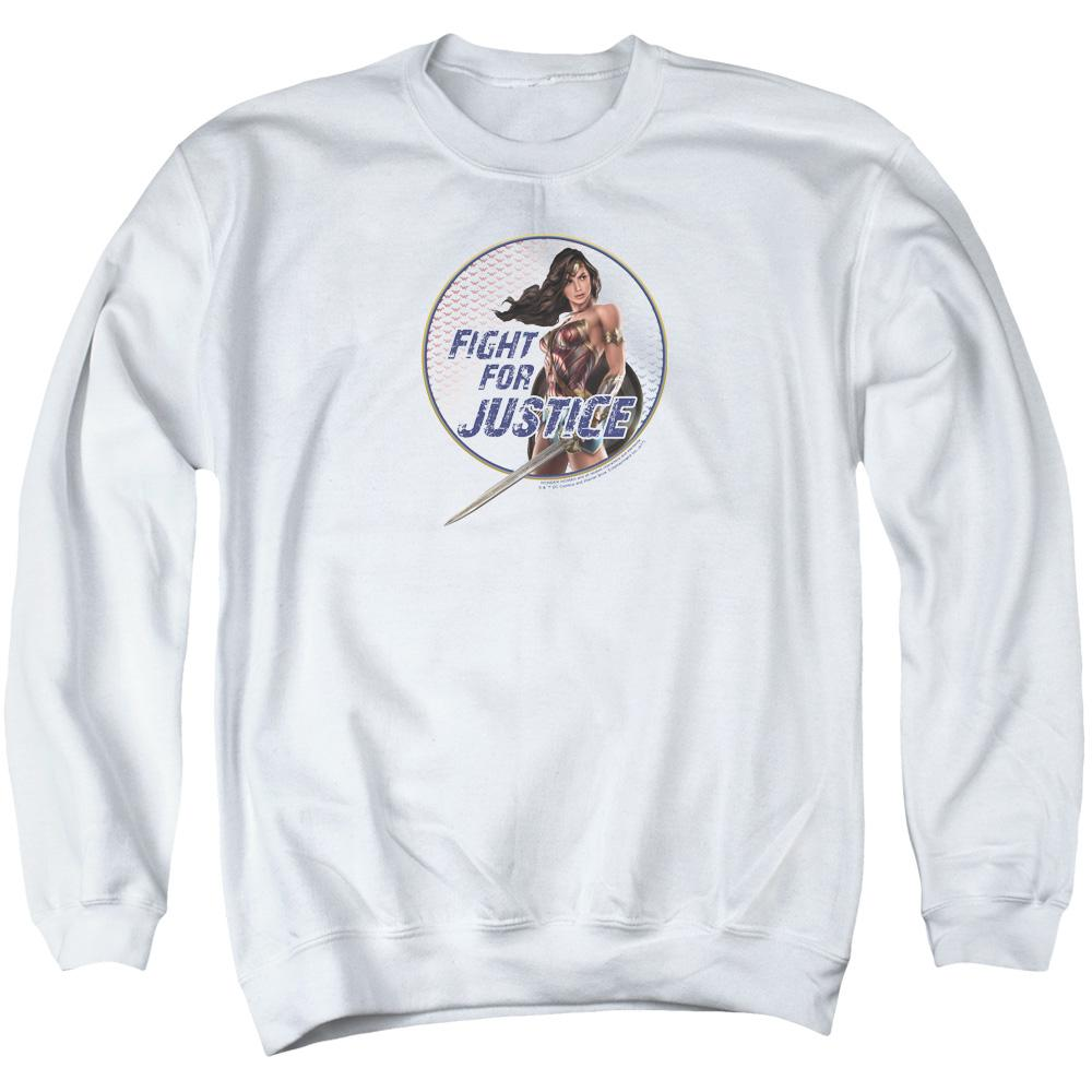 Wonder Woman Movie Fight For Justice Adult Crewneck Sweatshirt