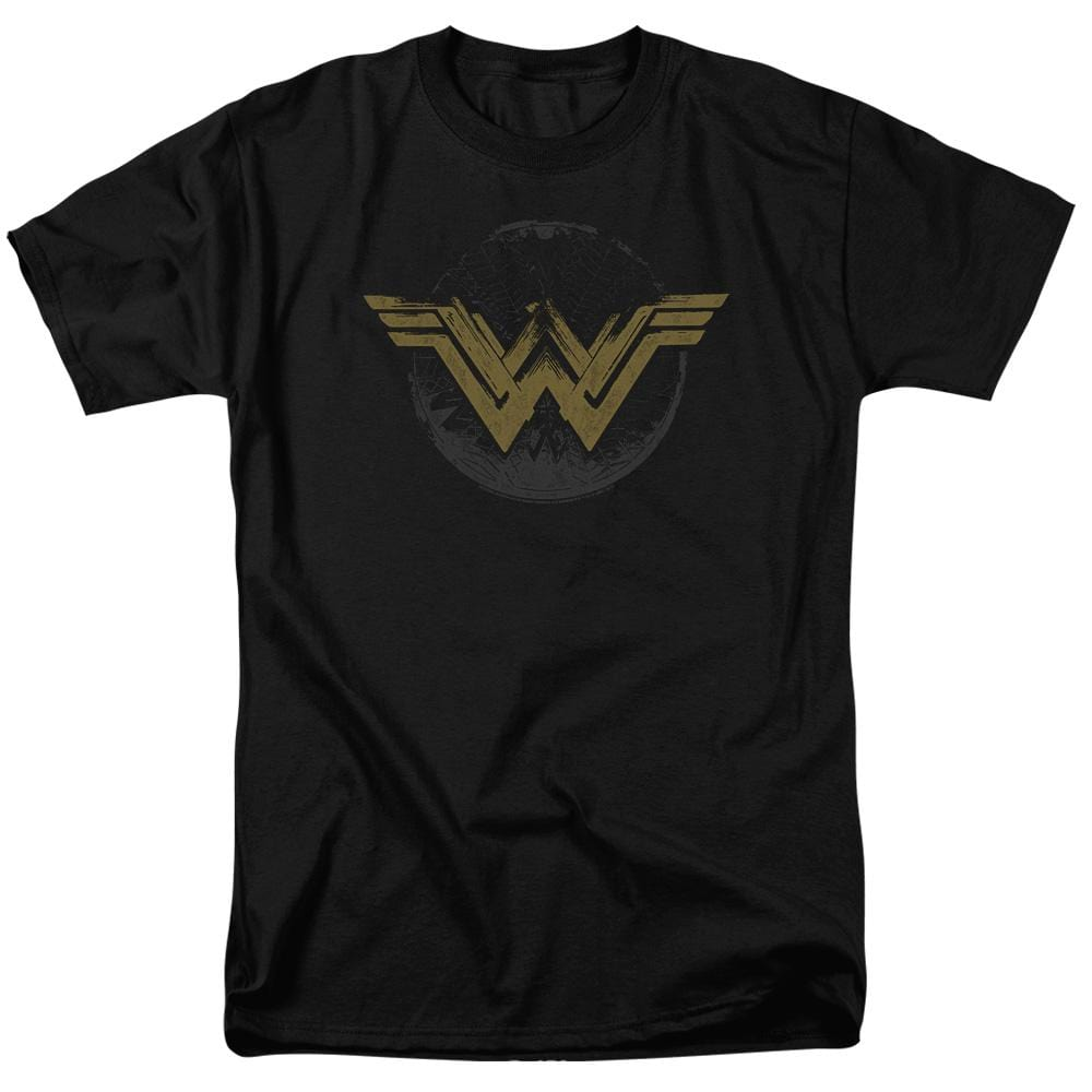 Wonder Woman Movie Distressed Logo Adult Regular Fit T-Shirt