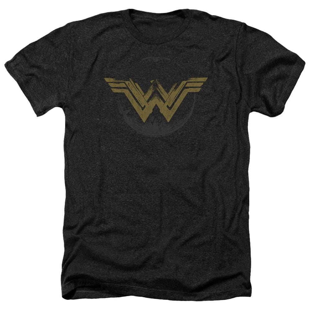 Wonder Woman Movie Distressed Logo Adult Regular Fit Heather T-Shirt