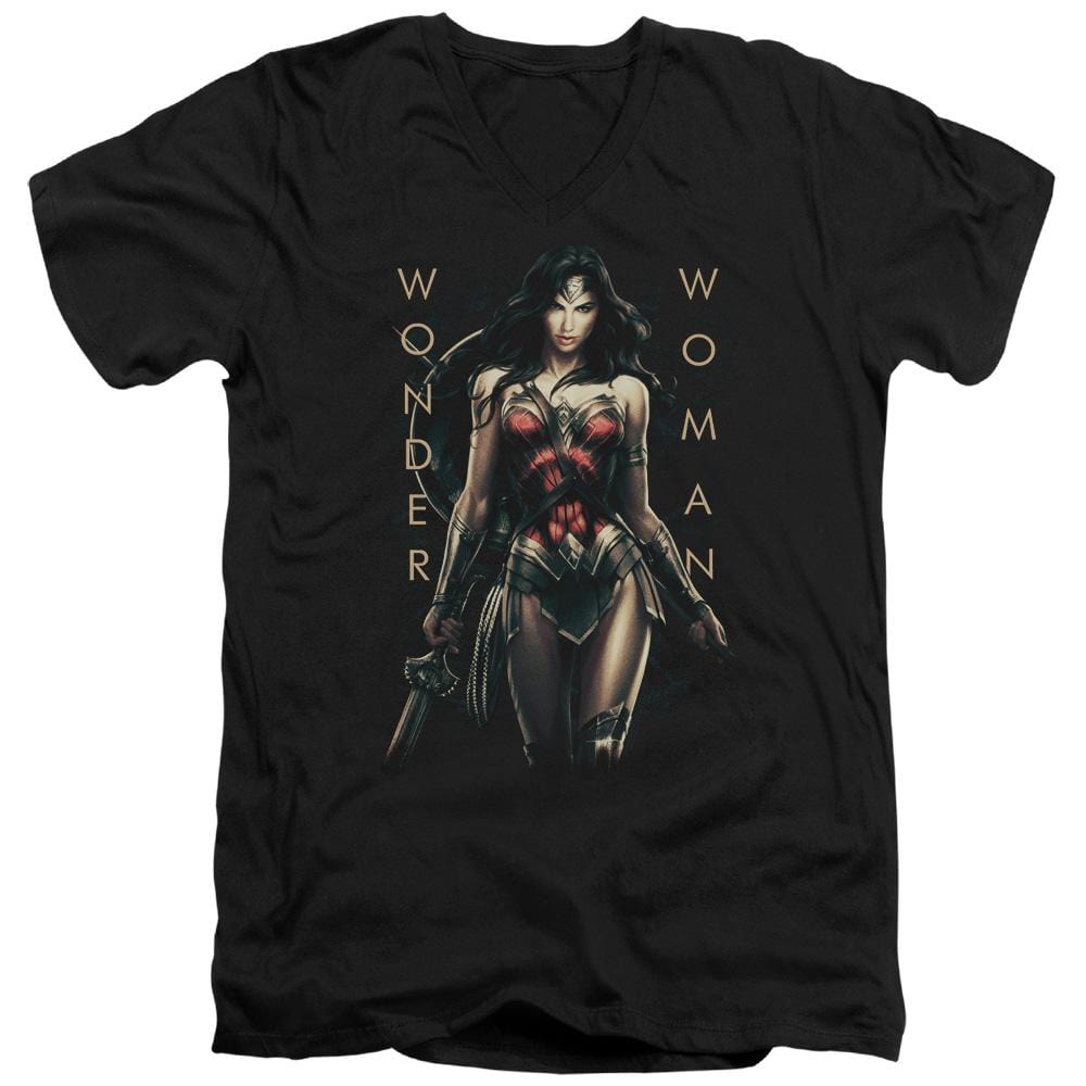 Wonder Woman Movie Armed And Dangerous Adult V-Neck T-Shirt