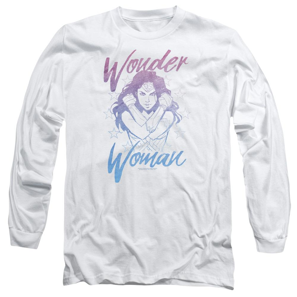 Wonder Woman Movie Retro Stance Adult Long Sleeve T-Shirt