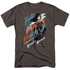 Wonder Woman Movie Fight For Peace Adult Regular Fit T-Shirt