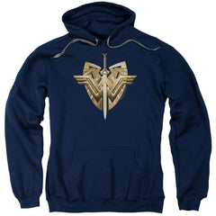 Wonder Woman Movie Sword Emblem Adult Pull-Over Hoodie