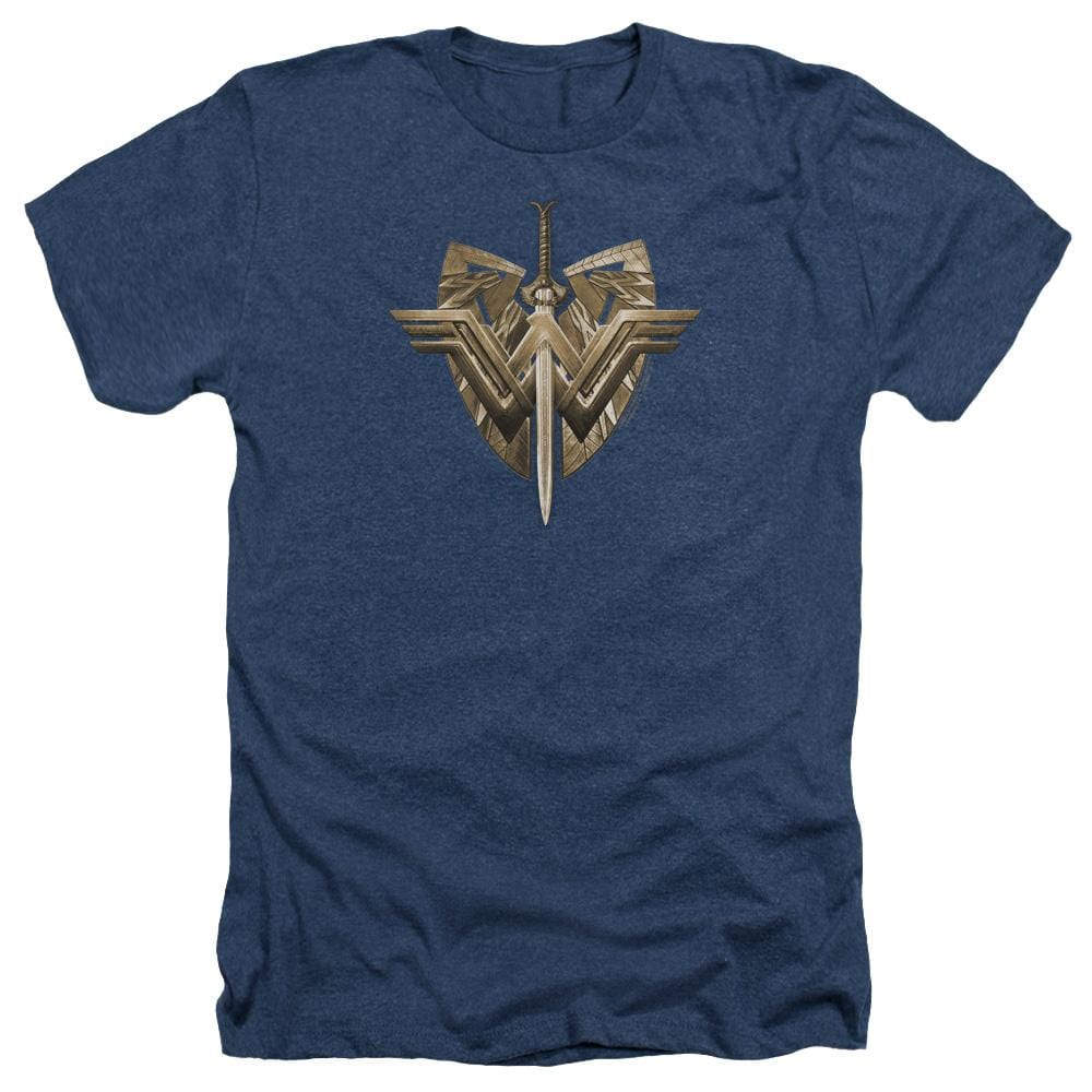 Wonder Woman Movie Sword Emblem Adult Regular Fit Heather T-Shirt