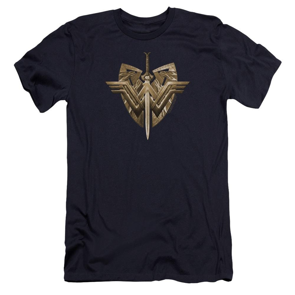 Wonder Woman Movie Sword Emblem Premium Adult Slim Fit T-Shirt