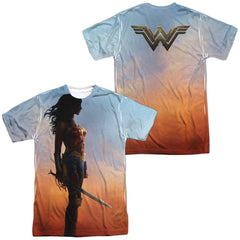 Wonder Woman Movie Poster Adult All Over Print 100% Poly T-Shirt