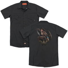Wonder Woman Movie Fight Adult Work Shirt