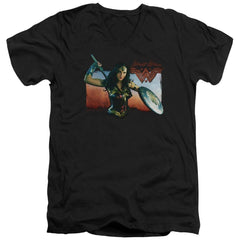 Wonder Woman Movie Warrior Woman Adult V-Neck T-Shirt