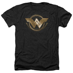 Wonder Woman Movie Lasso Logo Adult Regular Fit Heather T-Shirt
