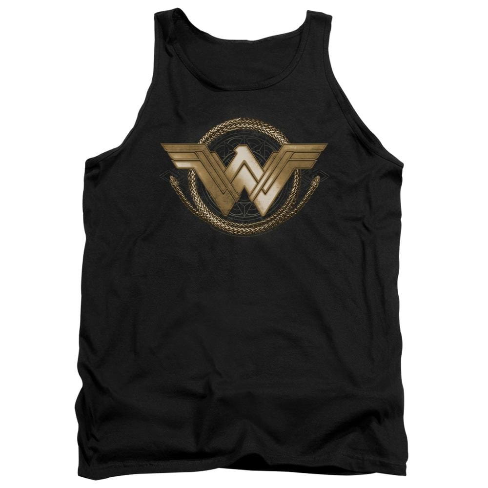 Wonder Woman Movie Lasso Logo Adult Tank Top