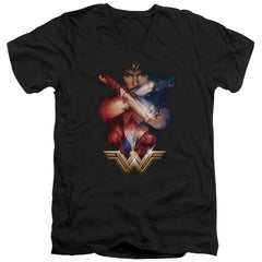 Wonder Woman Movie Arms Crossed Adult V-Neck T-Shirt