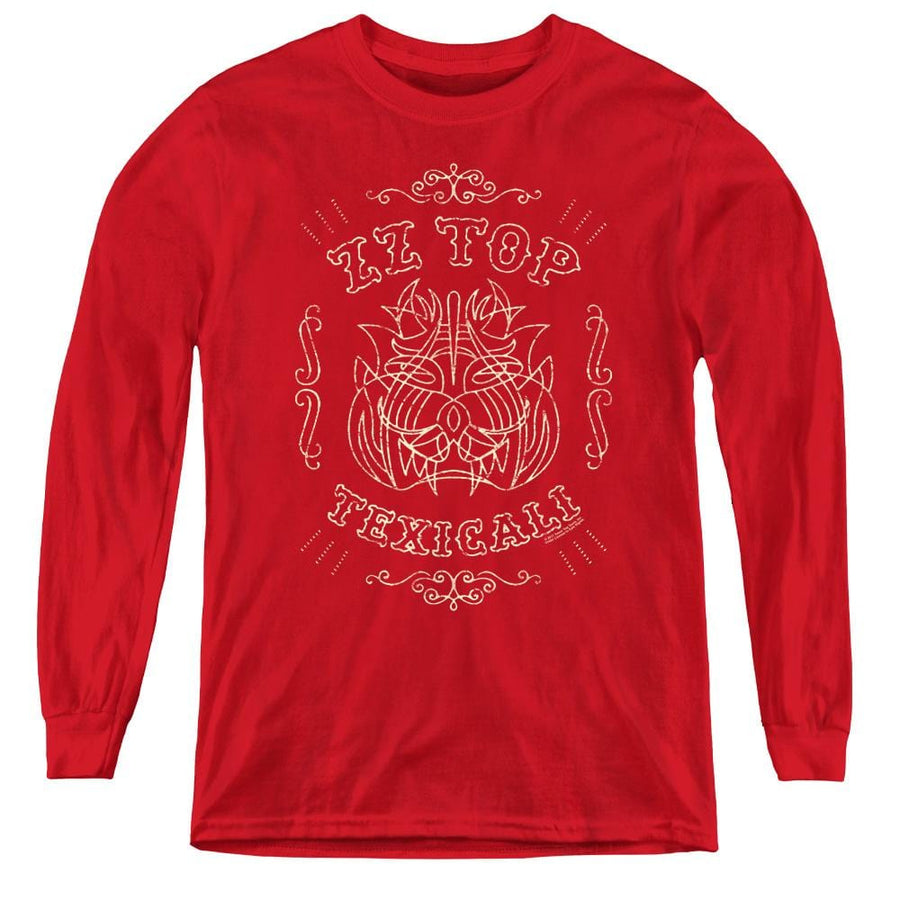 Zz Top Texicali Demon - Youth Long Sleeve T-Shirt