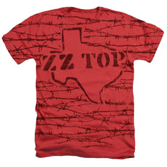 Zz Top - Texas Branded Adult Regular Fit Heather T-Shirt