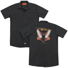 Zz Top - Eliminator Cover Adult Work Shirt