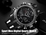 Men Sports Watches Waterproof LED Digital Quartz Men Military Wrist Watch Clock