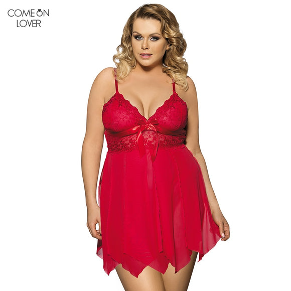 See Through Lace Chemise High Quality  Plus Size Lingerie