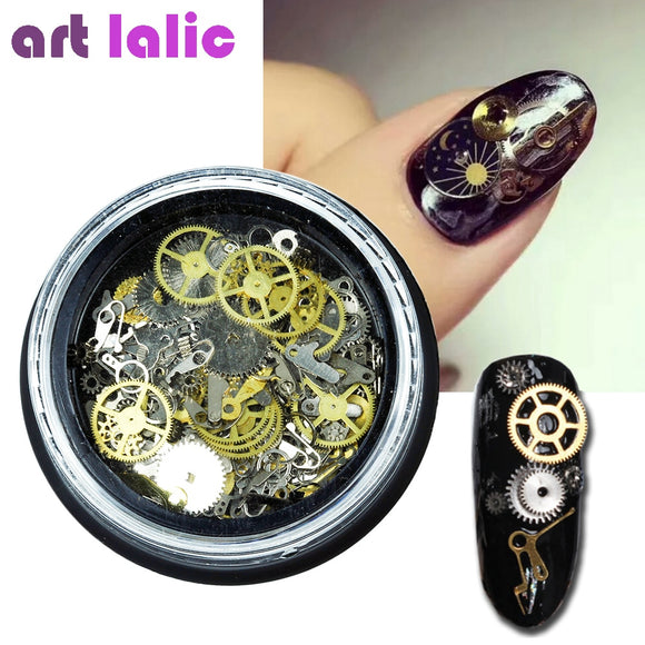 Steampunk Nail Art Decorations Ultra Thin Wheel Gear 3D Decoration
