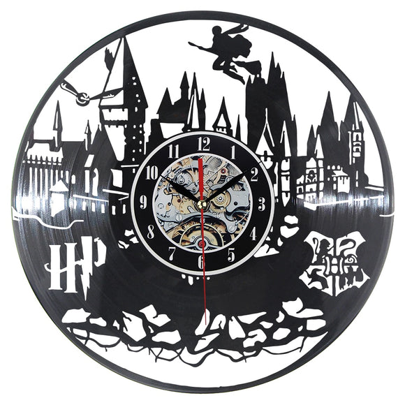 HP Record Wall Clock Modern World Vinyl