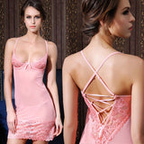 Lingerie  Transparent Dress Women Sexy Nightgown Steel Support