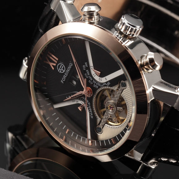 Top Luxury Brand Gold Stainless Steel Watch  Automatic Mechanical Steampunk Watches