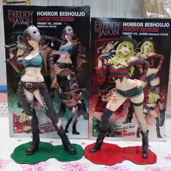 Freddy Vs Jason horror bishoujo PVC Action figure Toys 23cm