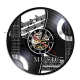 Music Is The Voice In The Soul Musical Quote Wall Clock Guitar Vinyl Record