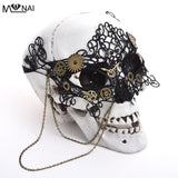 Vintage Steampunk Gear Clock Wheel Mask Handmade Gothic Victorian Lace Mask