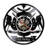 Hockey Man Cave Wall Decor Clock Watch Hockey Club Team Logo Hockey Fans Gift