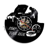 Pimp Your Ride Quote Motto Sign Wall Art Modern Clock Vinyl Record