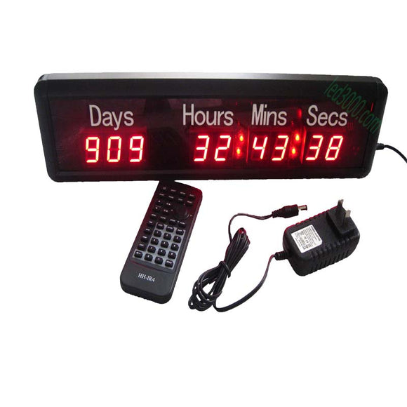 big sport  day,hours,minutes and seconds  led countdown digit clock