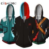 Coshome Anime Boku No My Hero Academia Cosplay Costumes Hoodies H Sweatshirts