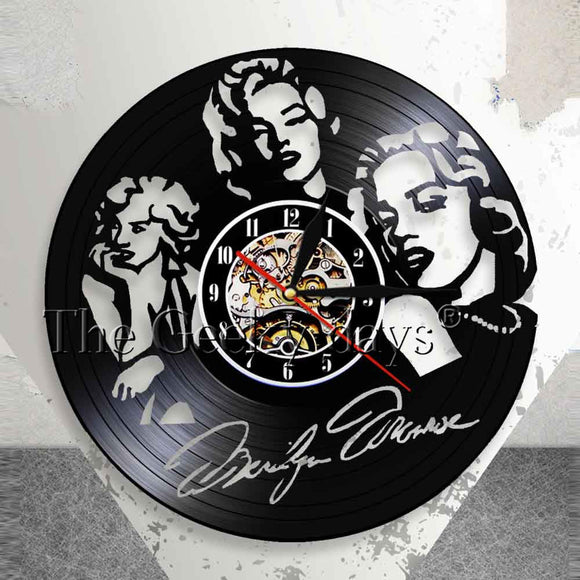 Marilyn Monroe Vinyl Record Wall Clock Actress Model Singer