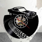 Classic Vintage Retro Car with Road Mark Wall Art Wall Clock