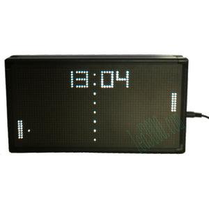 PONG Jump ball LED clock desk clock white color real time LED display