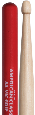 VIC FIRTH 5BVG (WOOD TIP) AMERICAN CLASSIC W/VIC GRIP - Musiclandshop