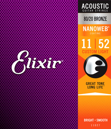 ELIXIR 11027 NANOWEB 80/20 CUSTOM LIGHT 11-52 - Musiclandshop