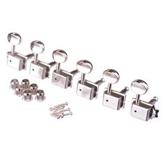 KLUSON STYLE MACHINE HEADS 6-INLINE CHROME - Musiclandshop