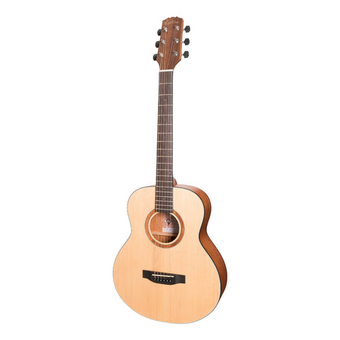 Martinez 'Natural Series' Spruce Top Mini Short Scale Acoustic-Electric Guitar (Open Pore)