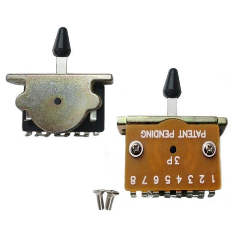 3 WAY SWITCH TE STYLE INC, BLACK WHITE CAP - Musiclandshop