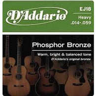 D'ADDARIO EJ18 ACOUSTIC STRINGS PHOSPHOR BRONZE .014-.059