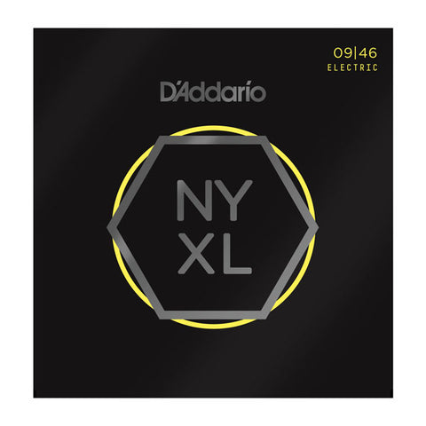 D'ADDARIO NYXL ELECTRIC STRINGS SUPER LIGHT TOP/ REG BOT .009-.046