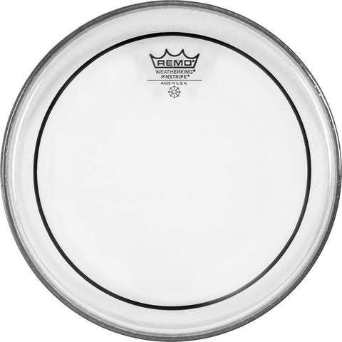"REMO 18"" PINSTRIPE CLEAR - TOM - Musiclandshop"