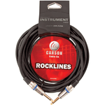 CARSON ROCKLINES 20' INSTRUMENT CABLE BRAIDED BLACK - Musiclandshop